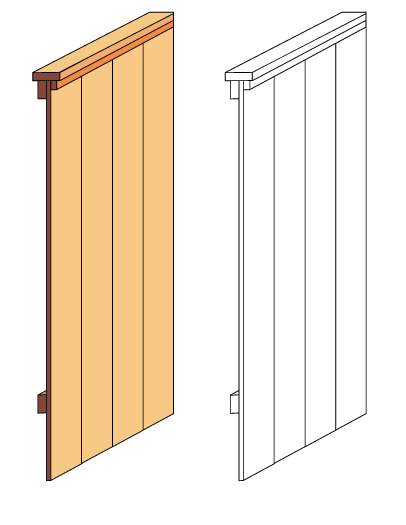 Semi picture frame fence